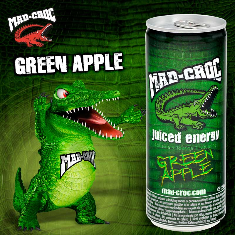 Mad Croc Juiced Energy Green Apple Madcroc No