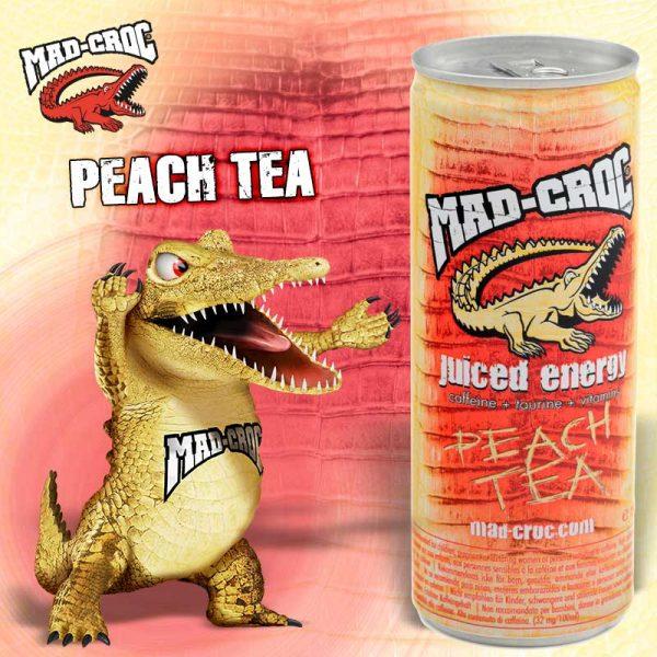 Mad-Croc Juiced Energy Peach Tea 250ml (Dato 25.08.2022)