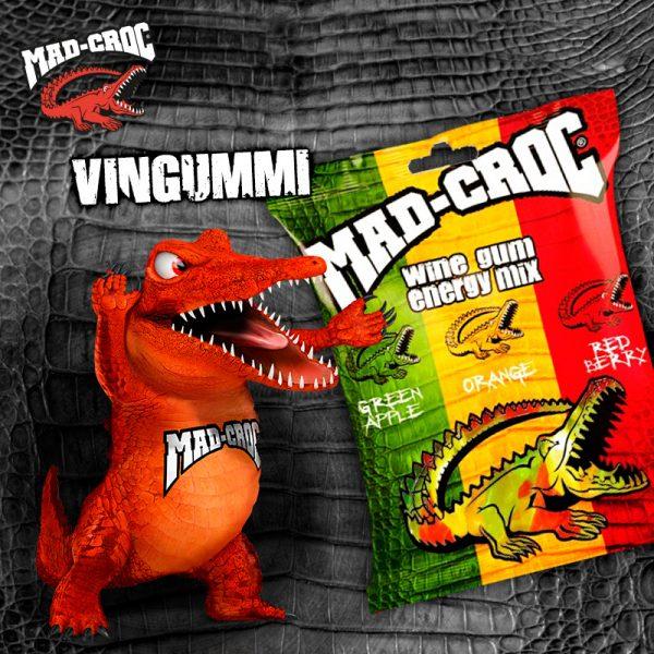 Vingummi/Wine Gum - Mad-Croc Energi 16 pk.